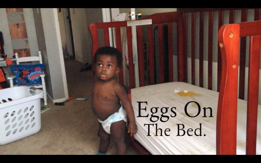 Eggs on the Bed. @beleafMel #beleafinfatherhood